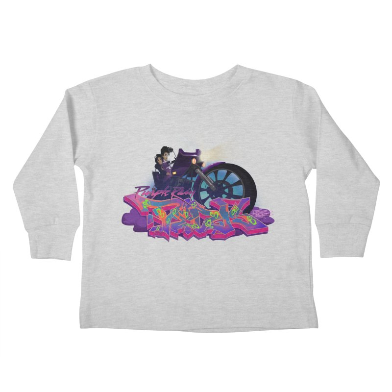 Dedos purple rain Kids Toddler Longsleeve T-Shirt by Dedos tees