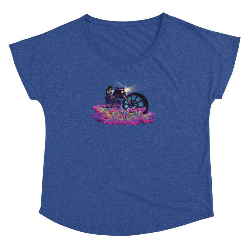 Dedos purple rain Women's Dolman by Dedos tees