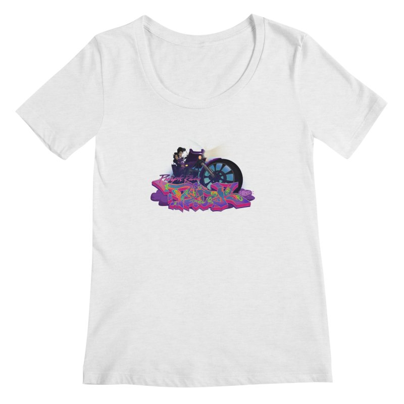 Dedos purple rain Women's Regular Scoop Neck by Dedos tees