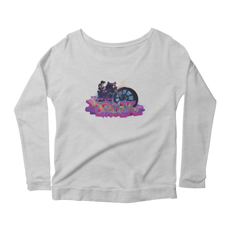 Dedos purple rain Women's Scoop Neck Longsleeve T-Shirt by Dedos tees