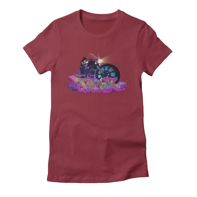 Dedos purple rain Women's Fitted T-Shirt by Dedos tees