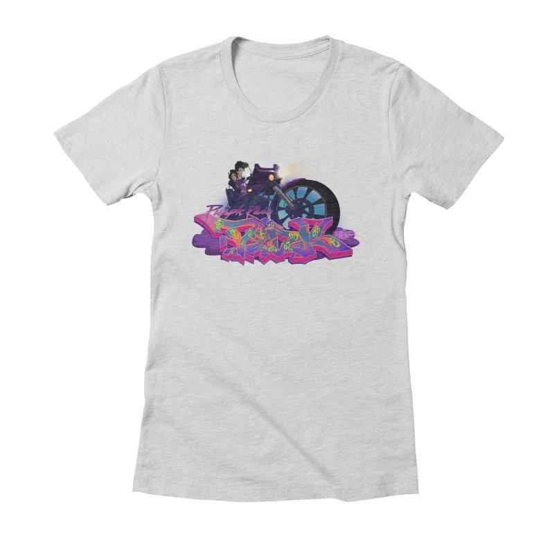 Dedos purple rain Women's Fitted T-Shirt by Dedos tees