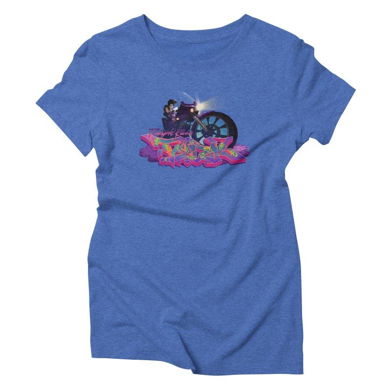 Dedos purple rain Women's Triblend T-Shirt by Dedos tees