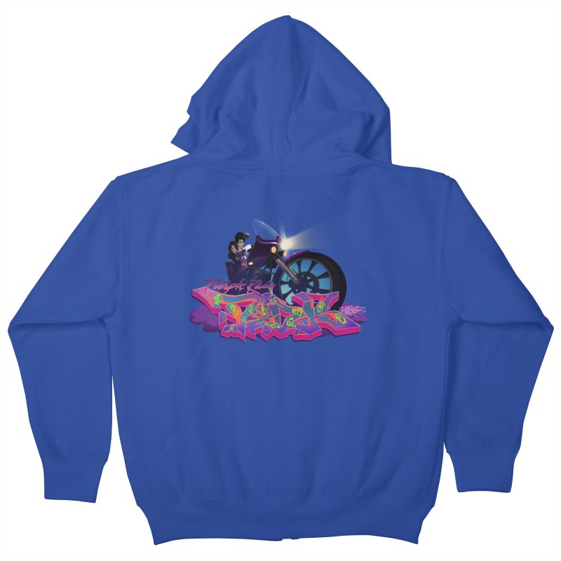 Dedos purple rain Kids Zip-Up Hoody by Dedos tees