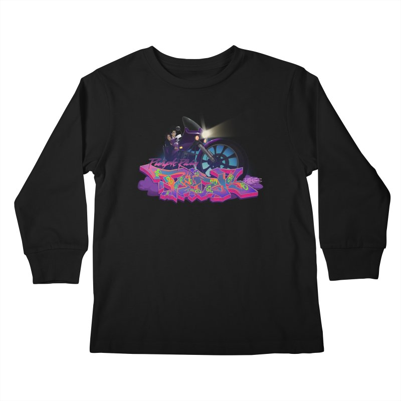 Dedos purple rain Kids Longsleeve T-Shirt by Dedos tees