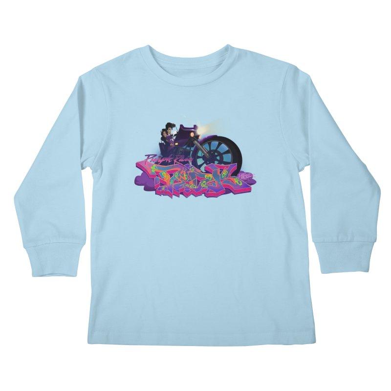 Dedos purple rain Kids Longsleeve T-Shirt by Dedos tees