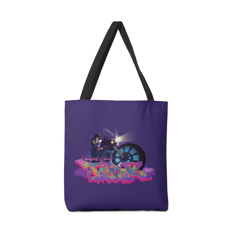 Dedos purple rain Accessories Bag by Dedos tees