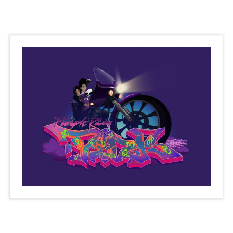 Dedos purple rain Home Fine Art Print by Dedos tees