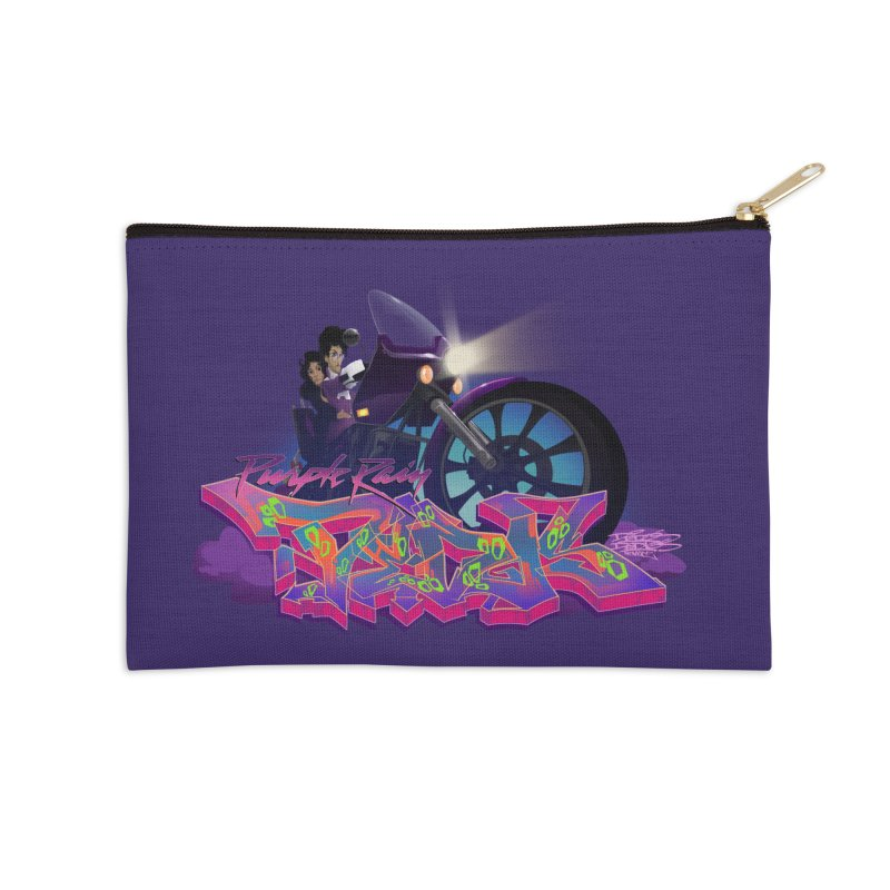 Dedos purple rain Accessories Zip Pouch by Dedos tees