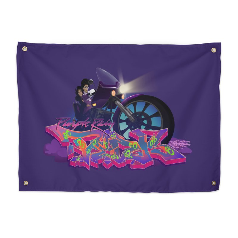 Dedos purple rain Home Tapestry by Dedos tees