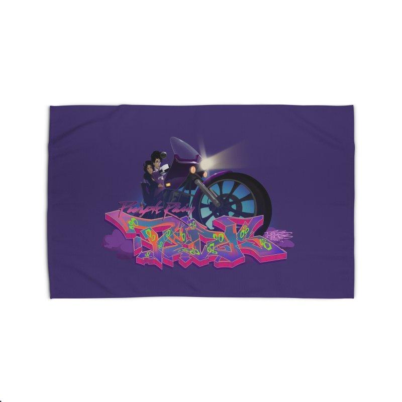 Dedos purple rain Home Rug by Dedos tees