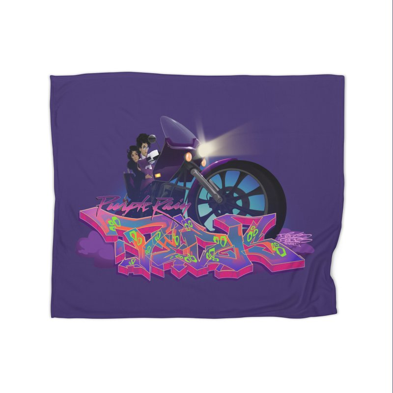 Dedos purple rain Home Fleece Blanket by Dedos tees