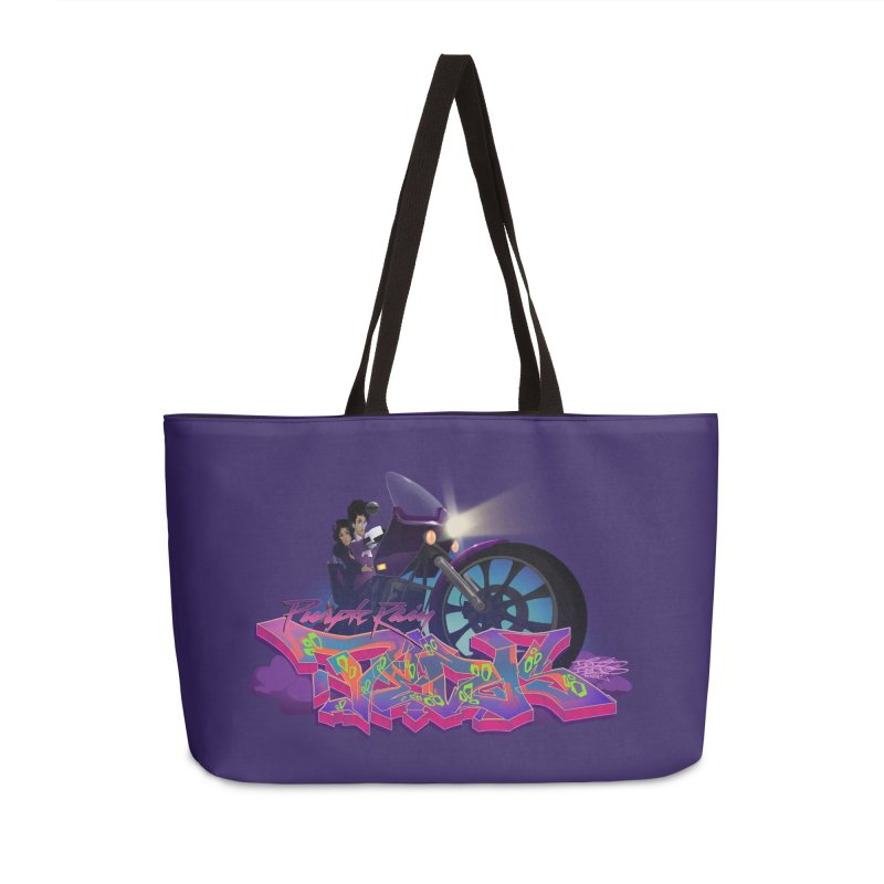 Dedos purple rain Accessories Weekender Bag Bag by Dedos tees