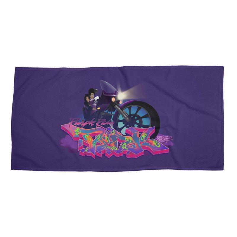 Dedos purple rain Accessories Beach Towel by Dedos tees