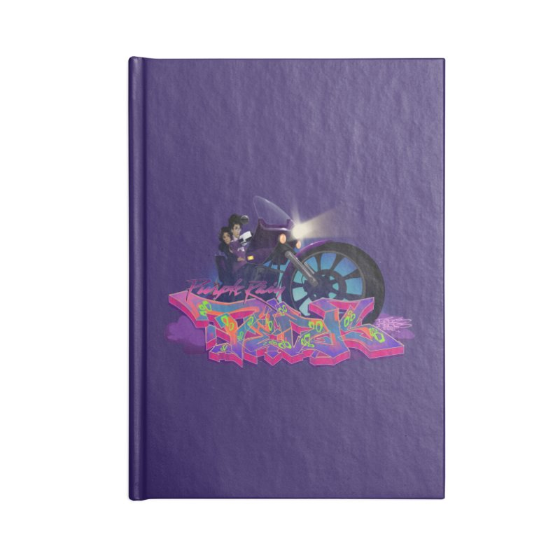 Dedos purple rain Accessories Lined Journal Notebook by Dedos tees