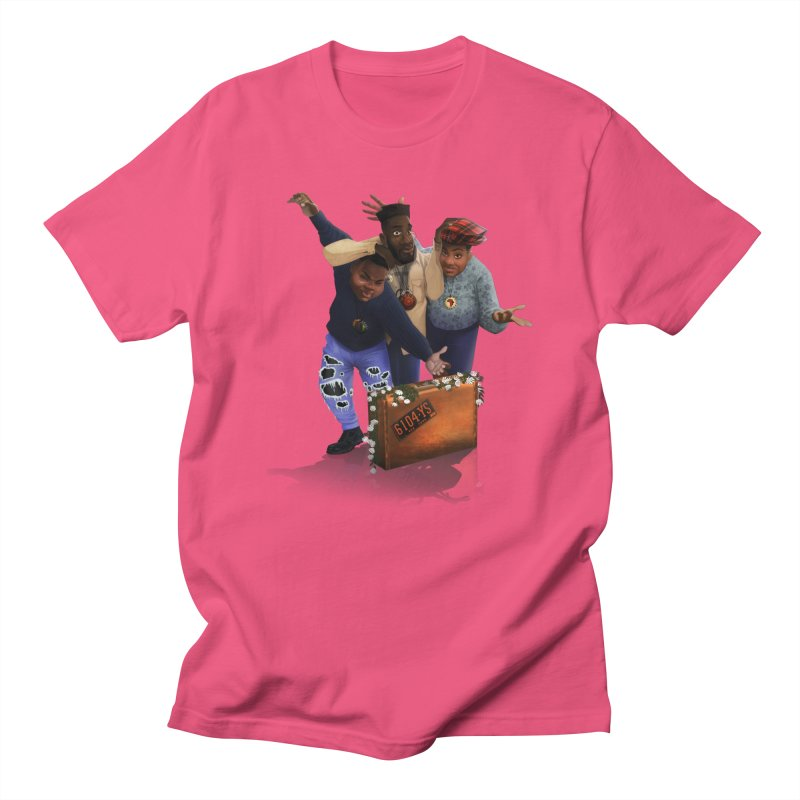 me myself and I in Men's Regular T-Shirt Fuchsia by Dedos tees