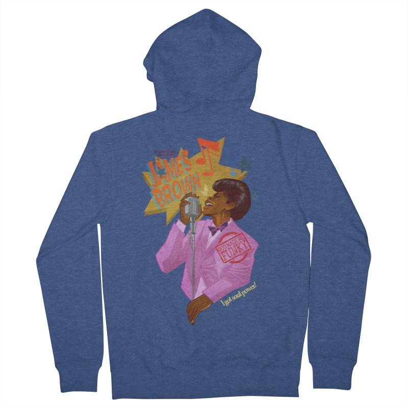 Soul Power Women's French Terry Zip-Up Hoody by Dedos tees