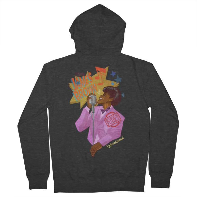 Soul Power Men's French Terry Zip-Up Hoody by Dedos tees