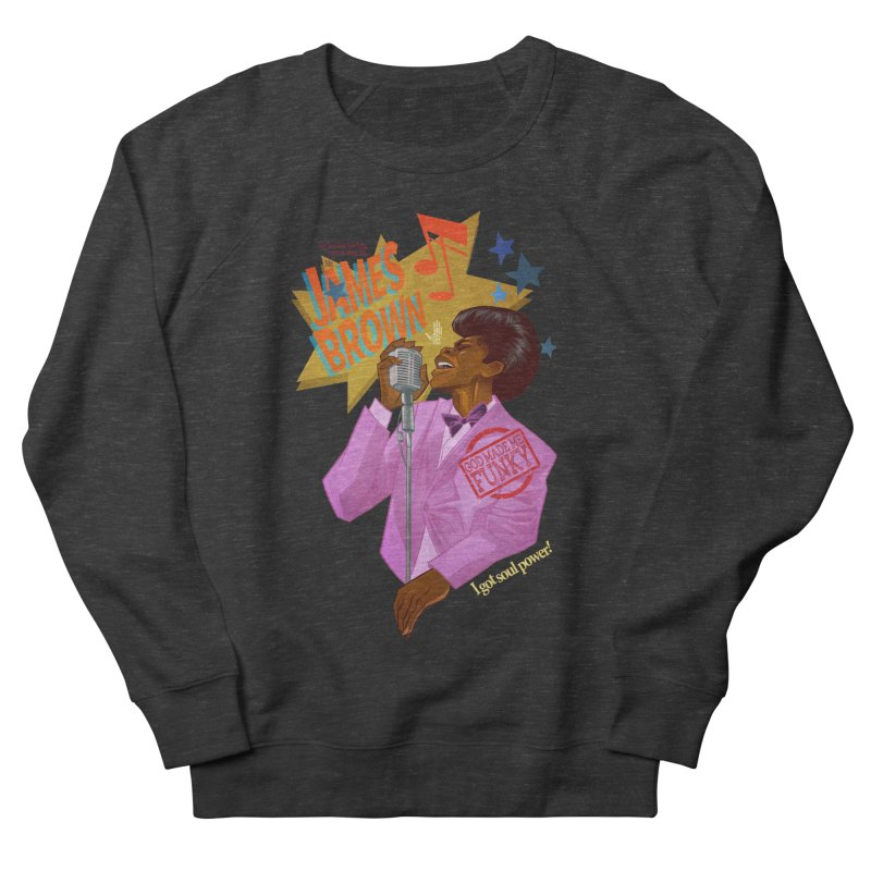 Soul Power Men's French Terry Sweatshirt by Dedos tees