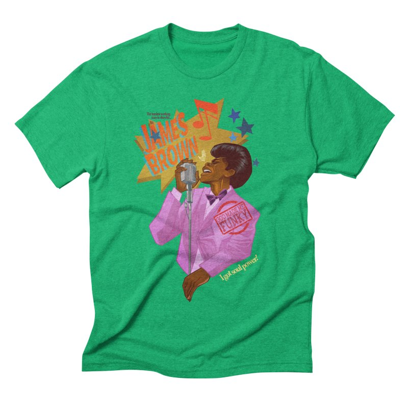 Soul Power Men's Triblend T-Shirt by Dedos tees