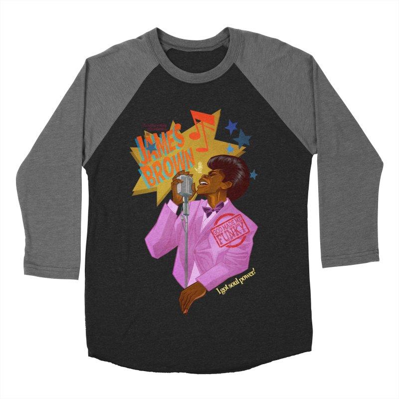 Soul Power Women's Baseball Triblend Longsleeve T-Shirt by Dedos tees