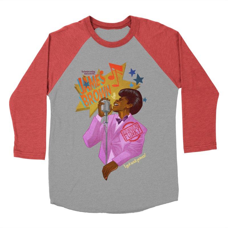 Soul Power Men's Baseball Triblend T-Shirt by Dedos tees