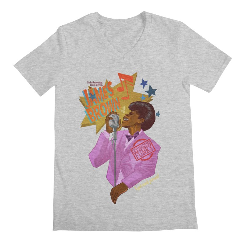 Soul Power Men's V-Neck by Dedos tees