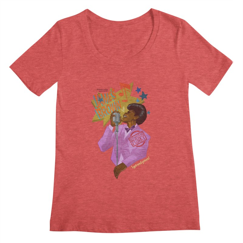 Soul Power Women's Scoopneck by Dedos tees