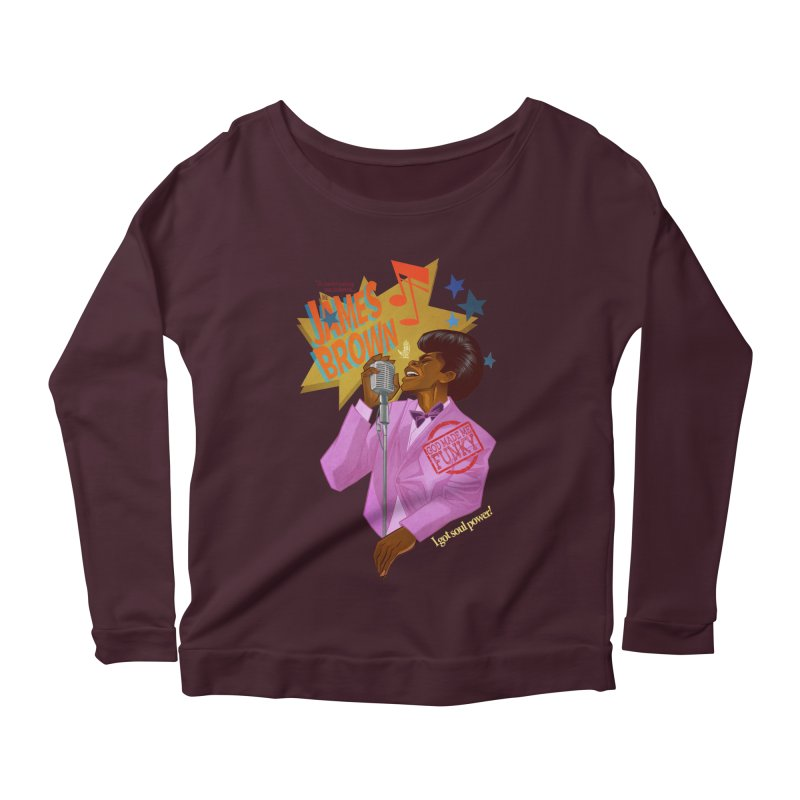 Soul Power Women's Longsleeve Scoopneck  by Dedos tees
