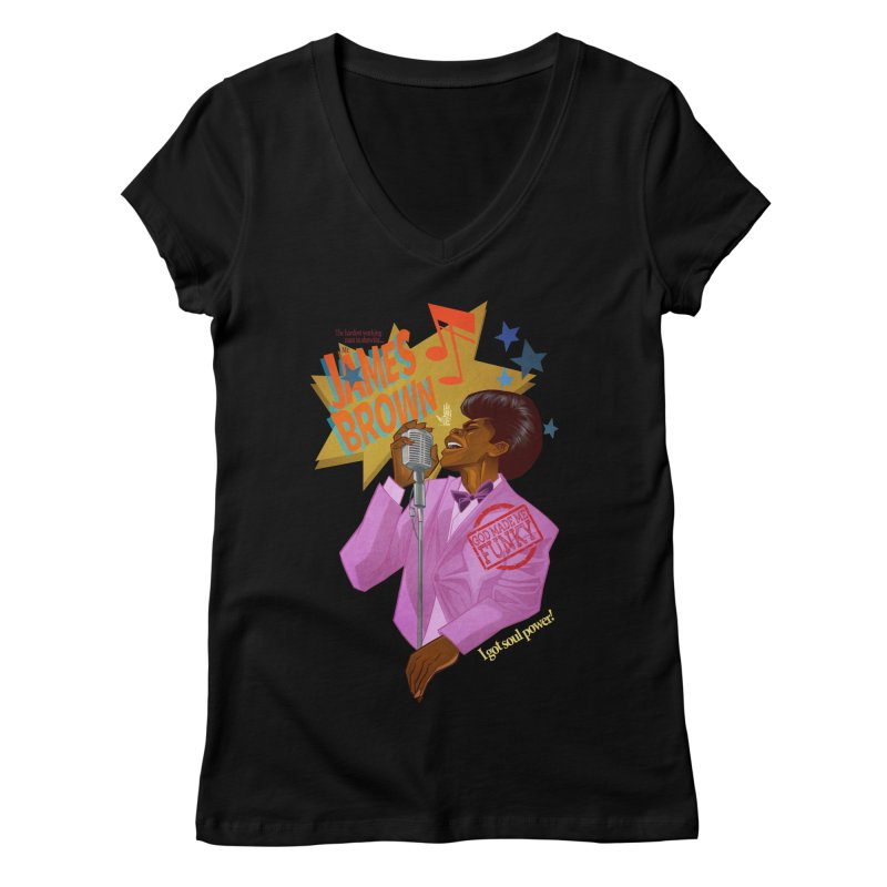 Soul Power Women's Regular V-Neck by Dedos tees