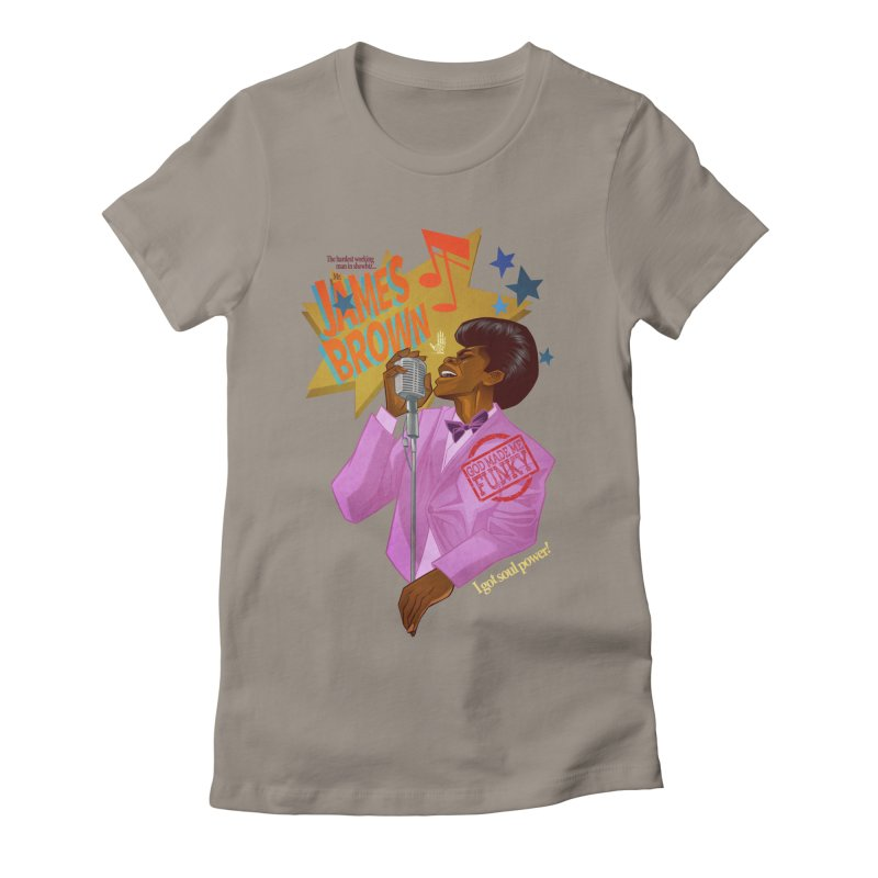 Soul Power Women's Fitted T-Shirt by Dedos tees