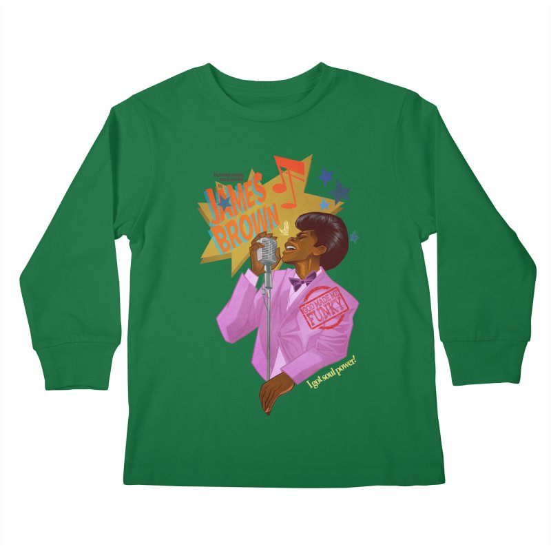 Soul Power Kids Longsleeve T-Shirt by Dedos tees