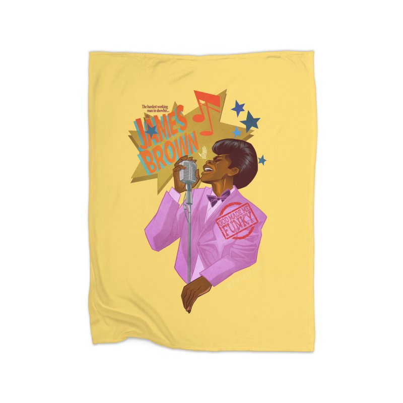 Soul Power Home Fleece Blanket by Dedos tees