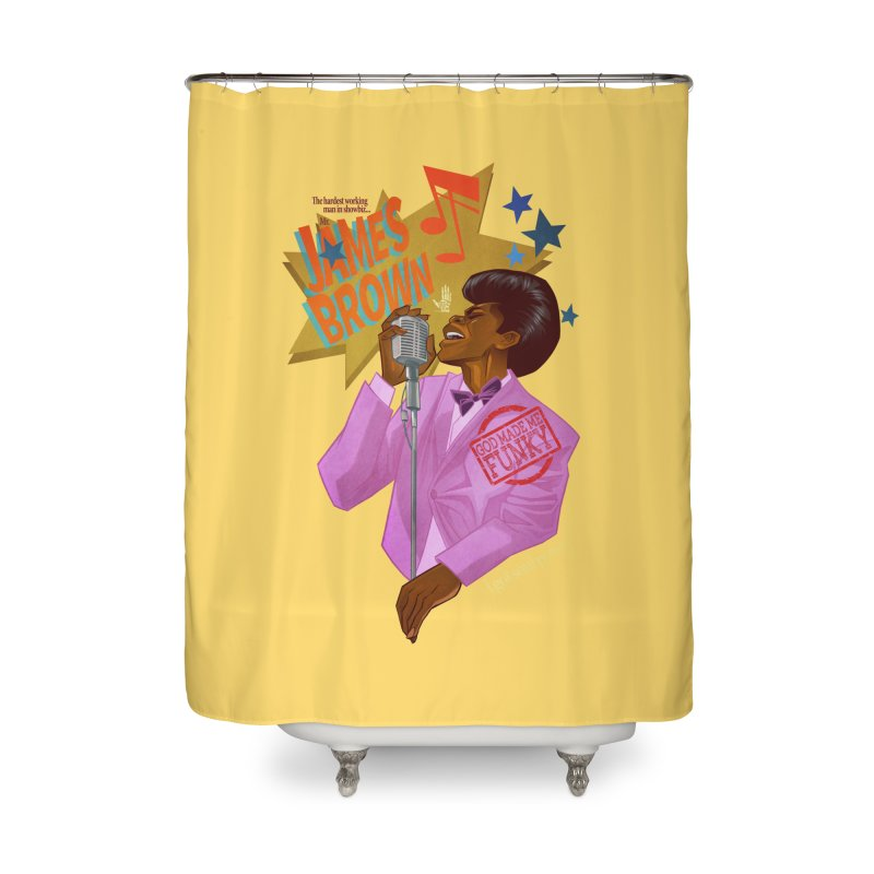 Soul Power Home Shower Curtain by Dedos tees