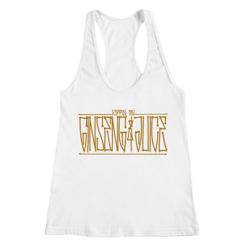 Ginseng and Juice 1 Women's Racerback Tank by Dedos tees