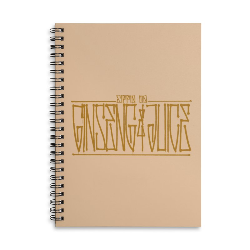 Ginseng and Juice 1 Accessories Lined Spiral Notebook by Dedos tees