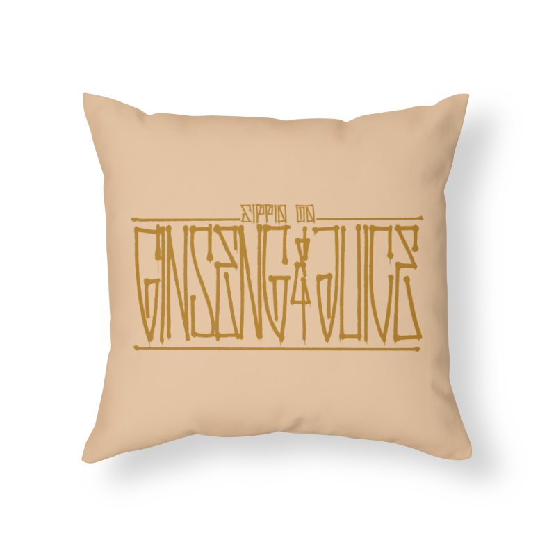 Ginseng and Juice 1 Home Throw Pillow by Dedos tees