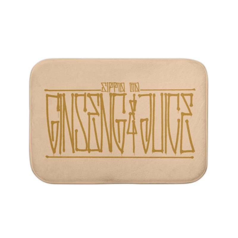 Ginseng and Juice 1 Home Bath Mat by Dedos tees