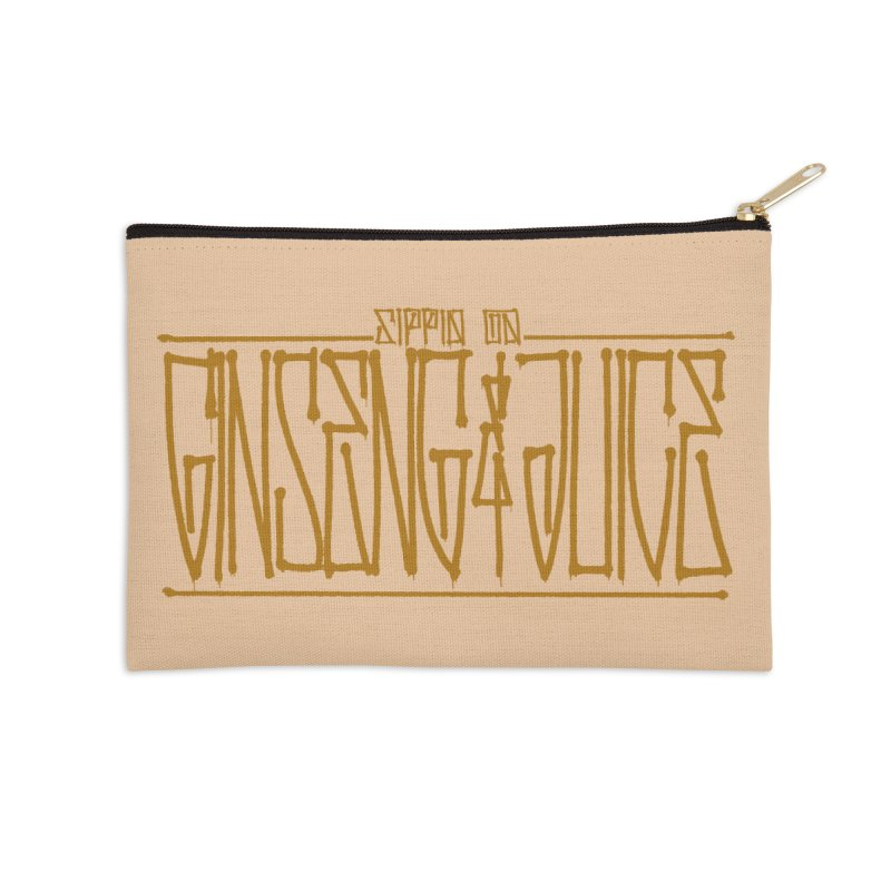 Ginseng and Juice 1 Accessories Zip Pouch by Dedos tees