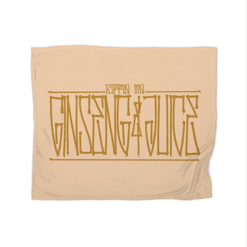 Ginseng and Juice 1 Home Fleece Blanket Blanket by Dedos tees