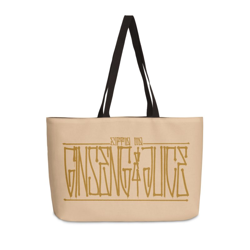 Ginseng and Juice 1 Accessories Weekender Bag Bag by Dedos tees