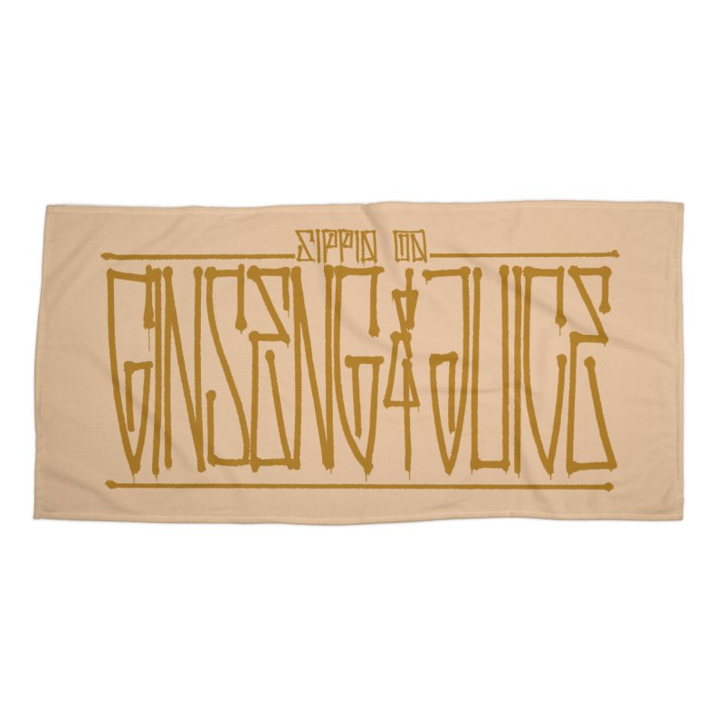 Ginseng and Juice 1 Accessories Beach Towel by Dedos tees