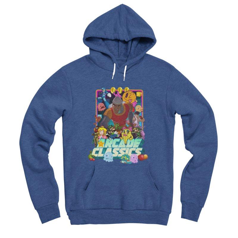 ARCADE CLASSICS 1 Women's Sponge Fleece Pullover Hoody by Dedos tees