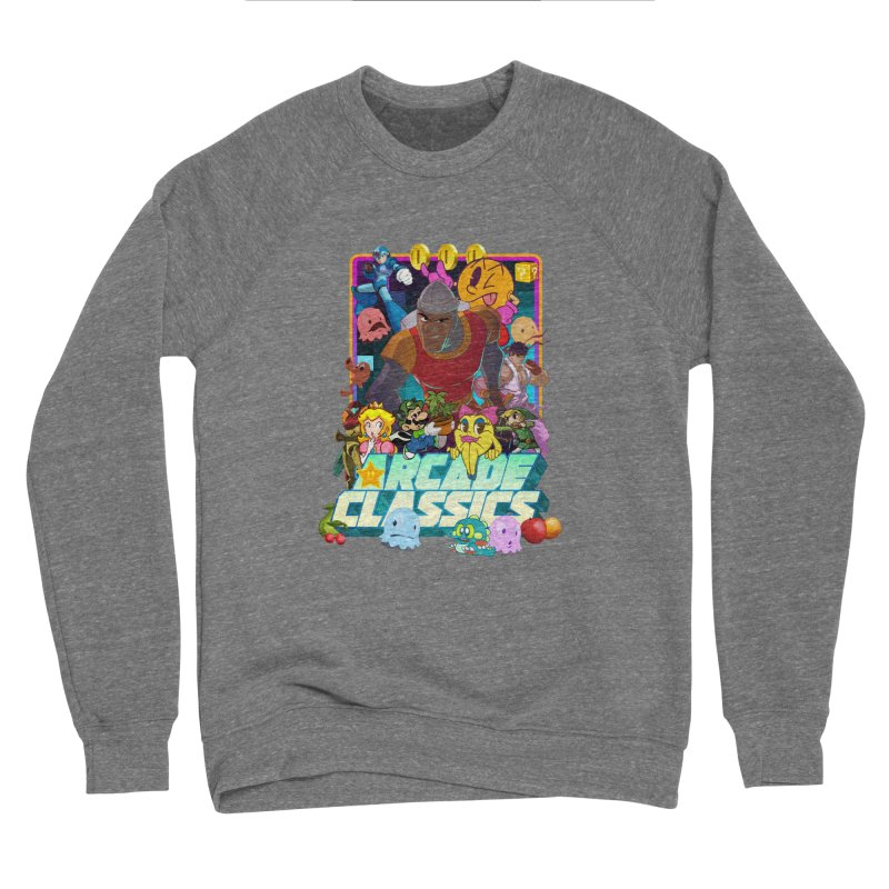 ARCADE CLASSICS 1 Women's Sponge Fleece Sweatshirt by Dedos tees