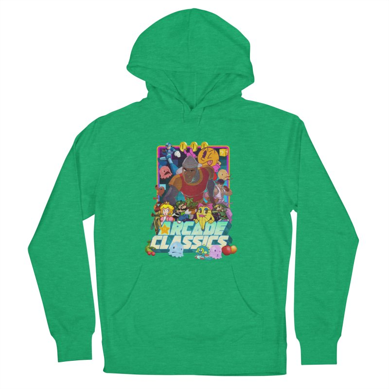 ARCADE CLASSICS 1 Women's French Terry Pullover Hoody by Dedos tees