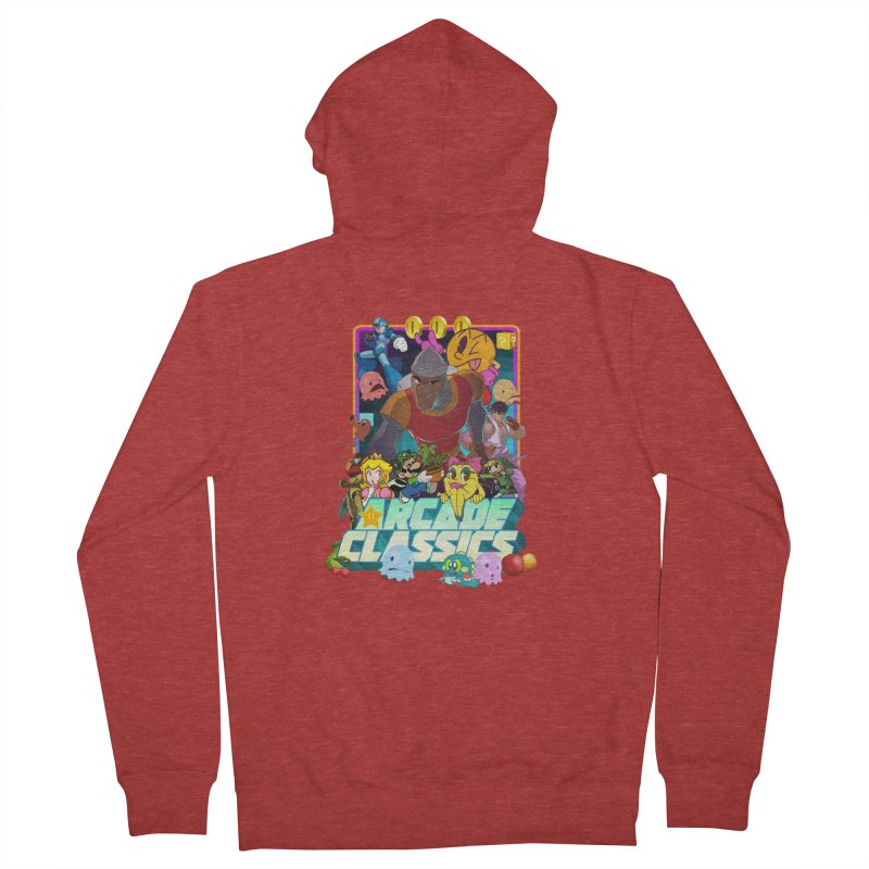ARCADE CLASSICS 1 Women's French Terry Zip-Up Hoody by Dedos tees