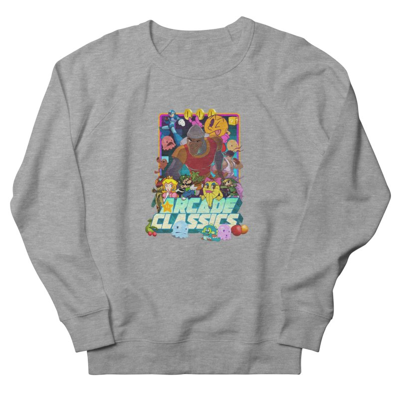 ARCADE CLASSICS 1 Women's French Terry Sweatshirt by Dedos tees