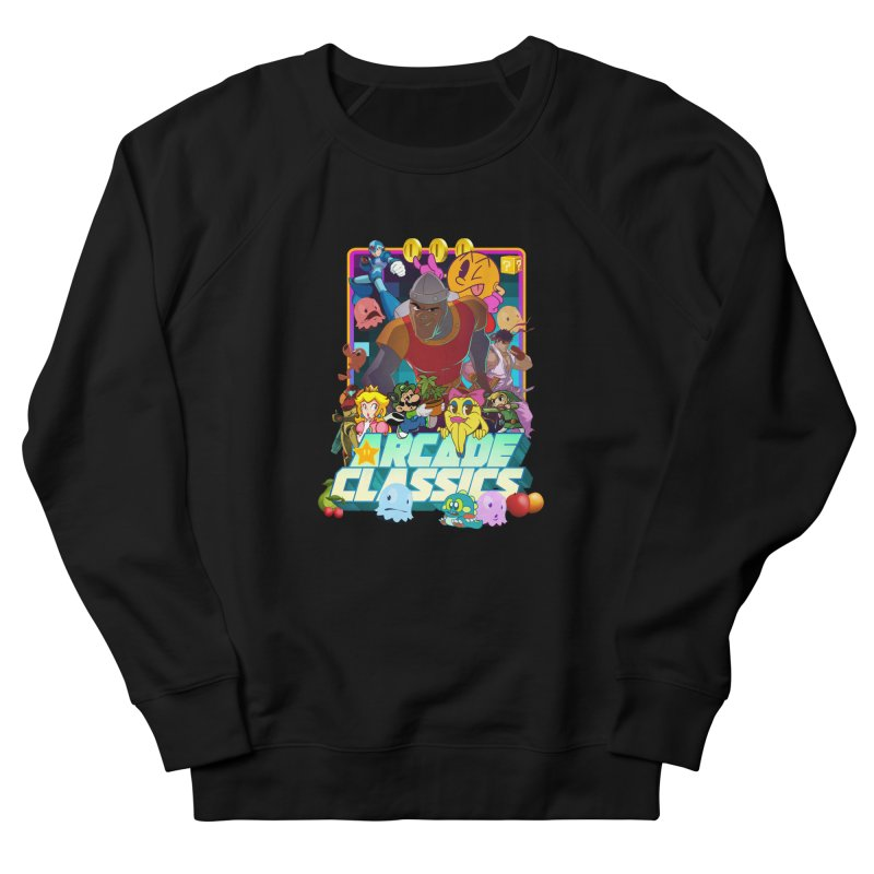 ARCADE CLASSICS 1 Women's French Terry Sweatshirt by Dedos tees
