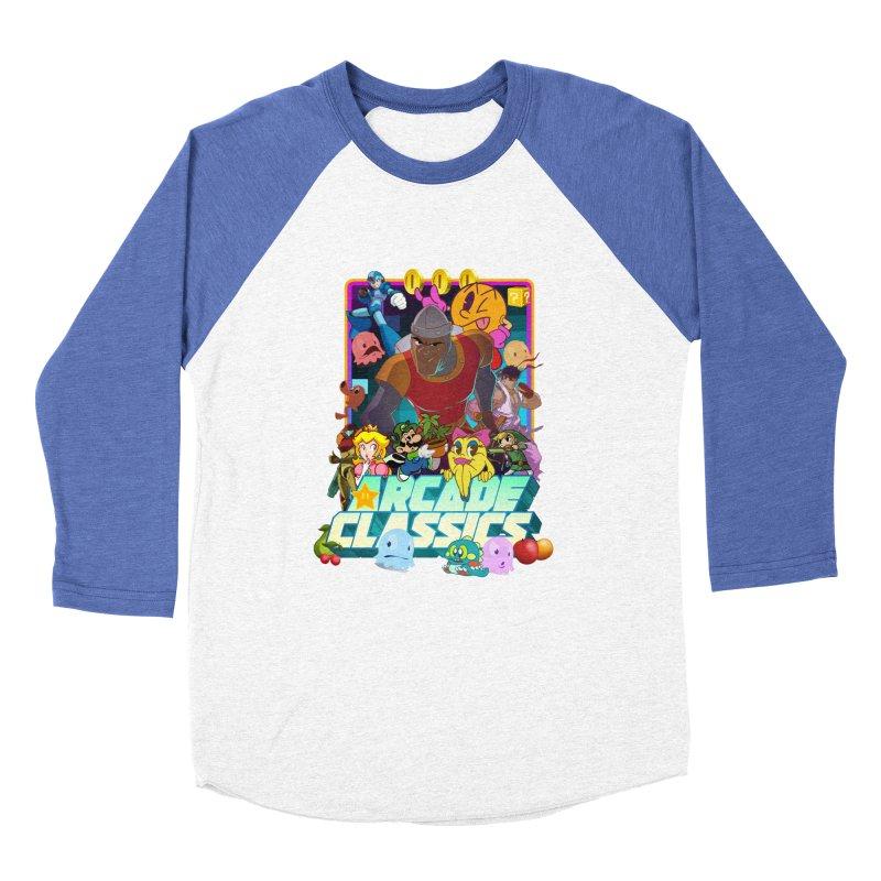ARCADE CLASSICS 1 Women's Baseball Triblend Longsleeve T-Shirt by Dedos tees