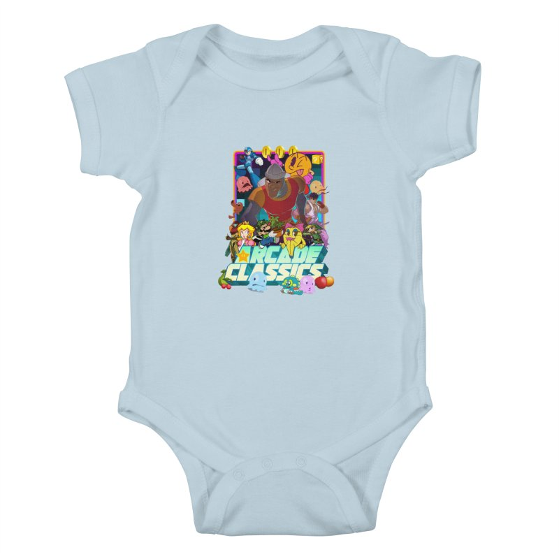 ARCADE CLASSICS 1 Kids Baby Bodysuit by Dedos tees